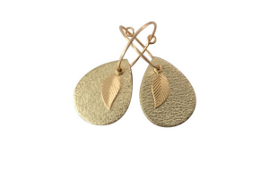 earrings - leaf mini me