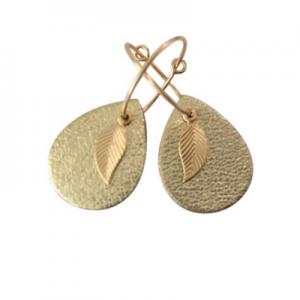 earrings - leaf mini me