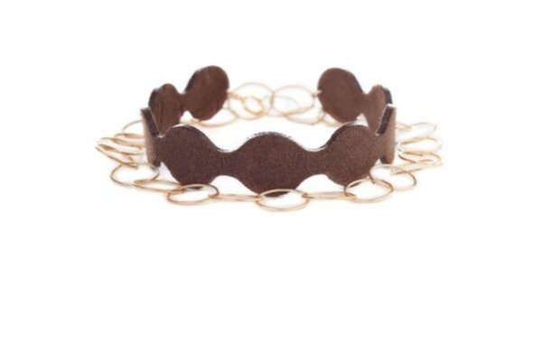 suede brown bracelet - lisa la pelle