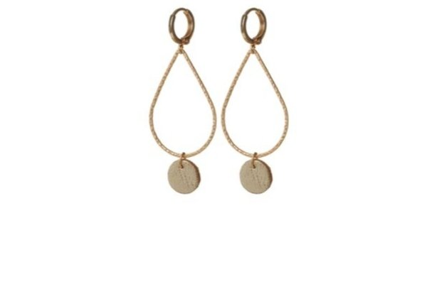 gold leather earrings - god filled
