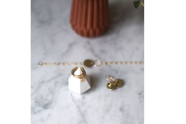 leather + gold filled jewellery