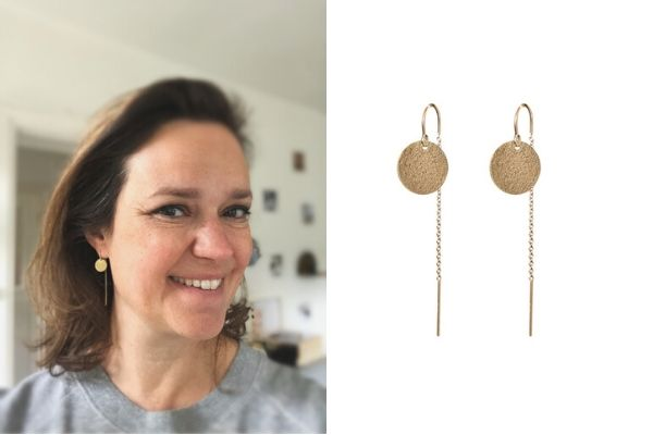 earrings single lady lucy - gold filled