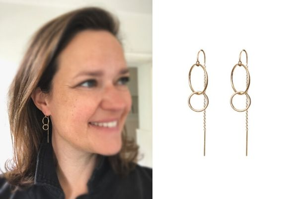 earrings hold on tight - gold filled - lisa la pelle