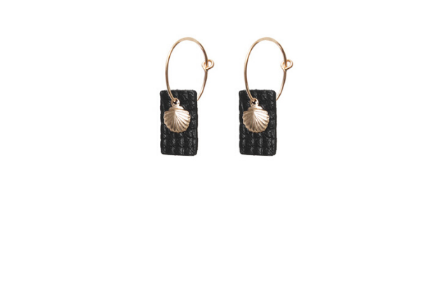 cleo's summer earrings - leather - gold filled