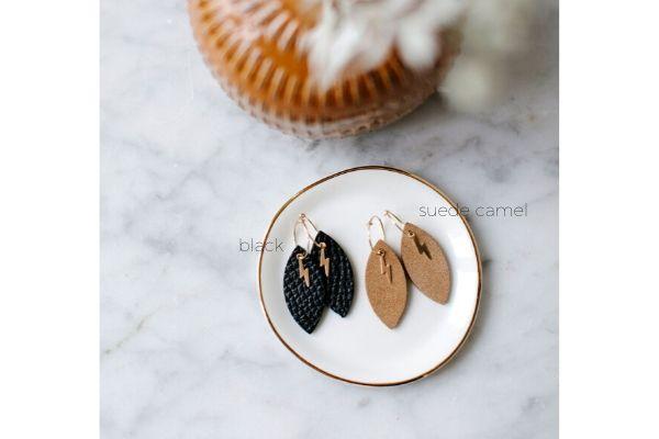 emma's mood - leather - gold filled