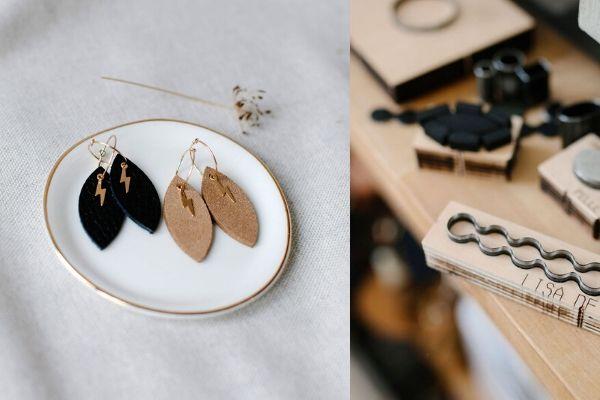 handmade earrings - lisa la pelle