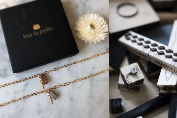 armband - handmade - leer - gold filled