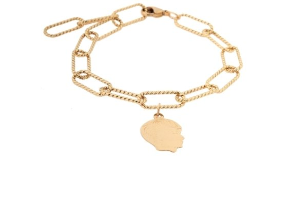 gold filled schakel armband - grace my everthing