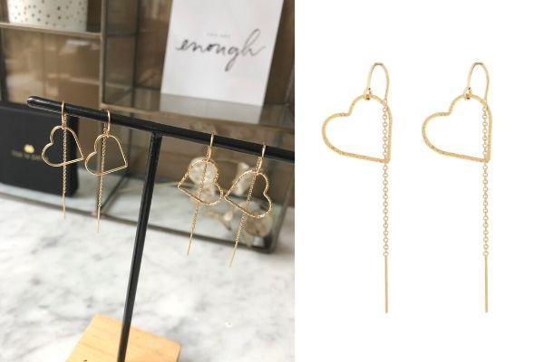 gold filled oorbellen - kies je hartje