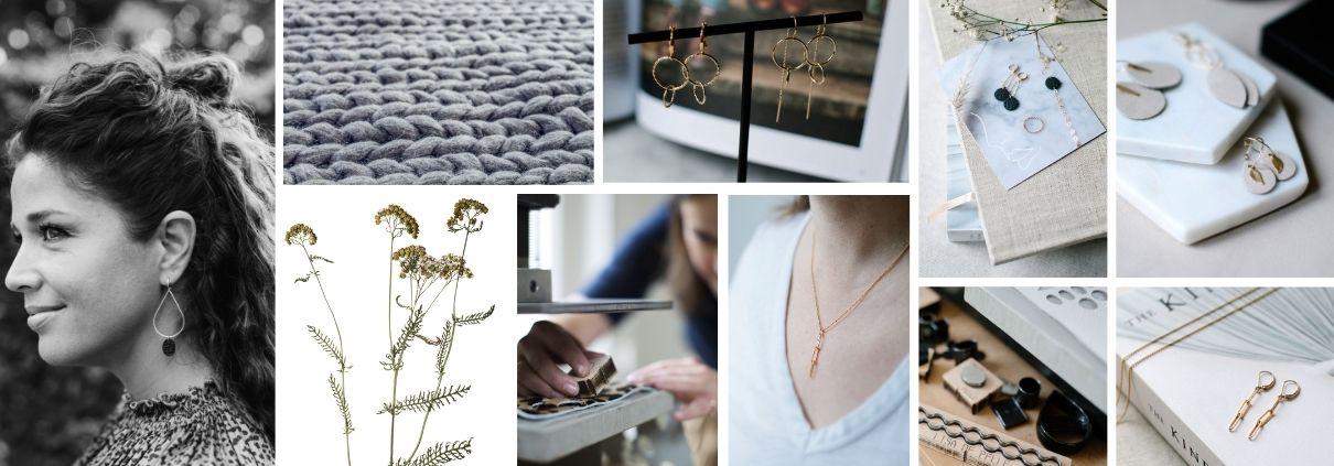handgemaakte sieraden - leer - gold filled - oorbellen
