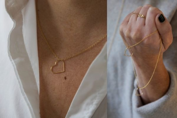 ketting - gold filled - forever by heart