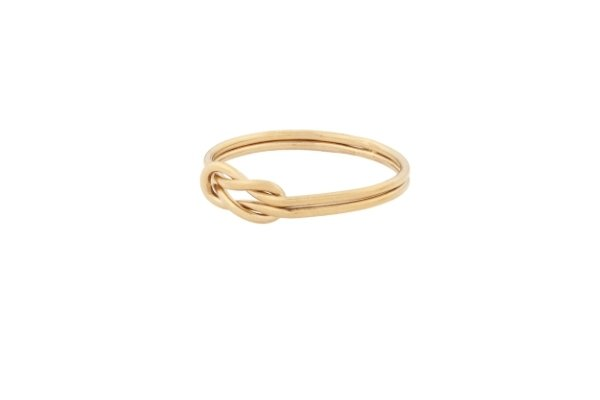 ring - gold filled - double love