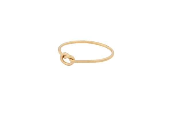 gold filled ring - love knot