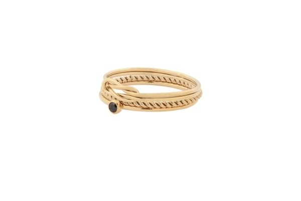ringen - set - gold filled - stacking rings - double love dot