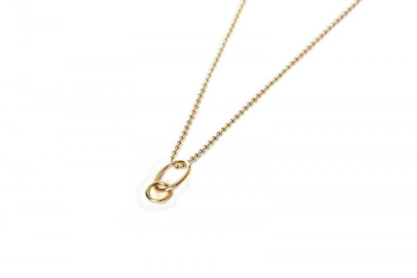 ketting - gold filled - hold on baby