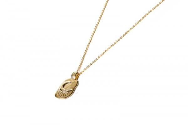 ketting - gold filled - to the moon