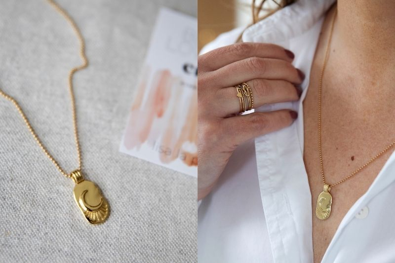gold filled ketting - to the moon