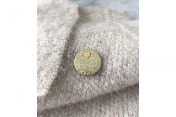 pin - confetti lover - goud leer